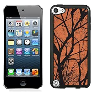 NEW Unique Custom Designed iPod Touch 5 Phone Case With Spooky Tree Branches Halloween_Black Phone Case