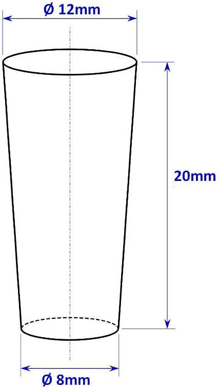 4/X Officiel Yankee Candle Frappantes Cross Section m/étallique en /étain D/écor Pilier Support Supports pour d/écoration Vase Accessoire/ /Bougies Non Inclus