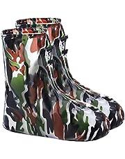 CLISPEED Cubrezapatos Impermeables Cubrebotas Reutilizables Antideslizantes Cubrebotas de Plástico Largas Cubrezapatos Tamaño M / 37-38 (Verde) 1 par