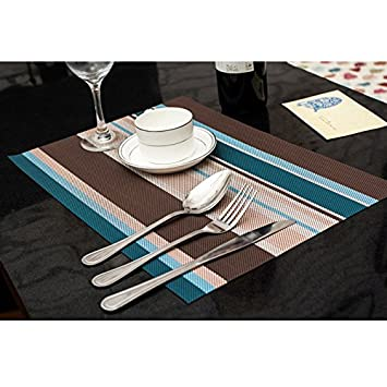 Amorus Washable Placemats Heat Insulation Non Slip Table Mats For Kitchen Dining  Set Of 6
