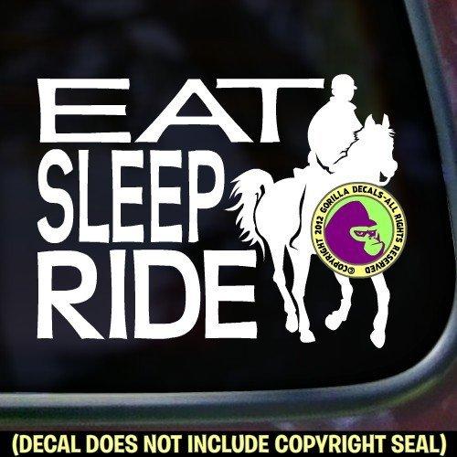 EAT SLEEP RIDE Endurance Vinyl Decal Sticker E