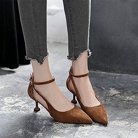 GTVERNH-in estate con il gatto baotou sandali scarpe da donna con una fibbia con una multa hollow ha sottolineato…