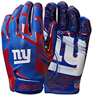 Wilson NFL Stretch Fit Gloves - New York Giants- Adult