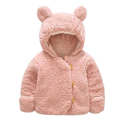 Evelin LEE Baby Boys Girls Winter Warm Coat Faux Fur Hoodie