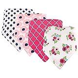 Hudson Baby Bandana Bib, Pink Floral
