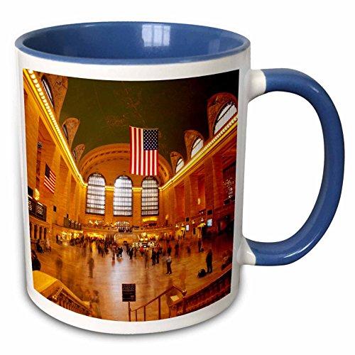 3dRose (mug_145404_6) Grand Central Train Station, New York City, USA - US33 BJN0068 - Brian Jannsen - Two Tone Blue Mug, (Grand Central Train Station)