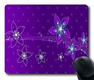 """Personalized Purple Flowers Custom Standard Rectangle Mouse Pad Oblong Gaming Mousepad in 220mm*180mm*3mm (9""""*7"""") -1011017 by runtopwell"""