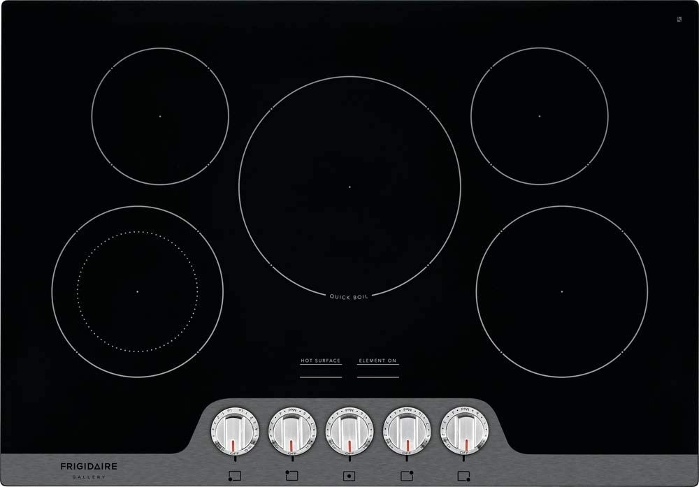 Frigidaire FGEC3068US Gallery 30-in. Electric Cooktop in Black with Stainless Steel Trim, 30 inches
