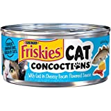 Purina Friskies Cat Concoctions With Cod In Cheesy Bacon Flavored Sauce Adult Wet Cat Food - (24) 5.5 Oz. Cans