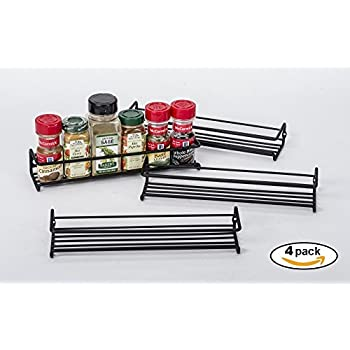 Amazon Com Set Of 4 Chrome Wall Mount Spice Racks