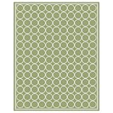 Budge Shelbourne Outdoor Patio Rug, RUG810SG6 (8' Long x 10' Wide, Sage Green)