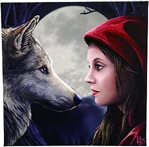 Moonstruck - Chica en Caperucita con el lobo delante de