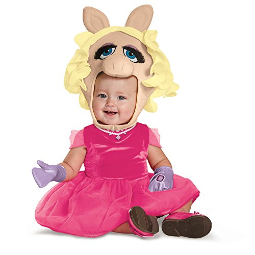 Disguise 88637M Miss Piggy Toddler Costume, Medium (3T-4T)