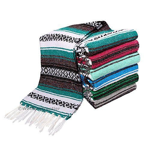 El-Paso-Designs-Genuine-Mexican-Falsa-Blanket-Yoga-Studio-Blanket-Colorful-Soft-Woven-Serape-Imported-from-Mexico