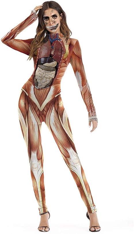 NFY Feo Halloween Sexy Traje Mujer Mono Ropa Esqueleto Disfraz ...