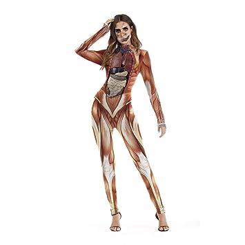 Nfy Hasslich Halloween Damen Jumpsuit Digitaldruck Overall Kostum