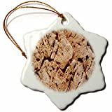 3dRose TDSwhite – Miscellaneous Photography - Natural Earth Design - 3 inch Snowflake Porcelain Ornament (orn_285418_1)