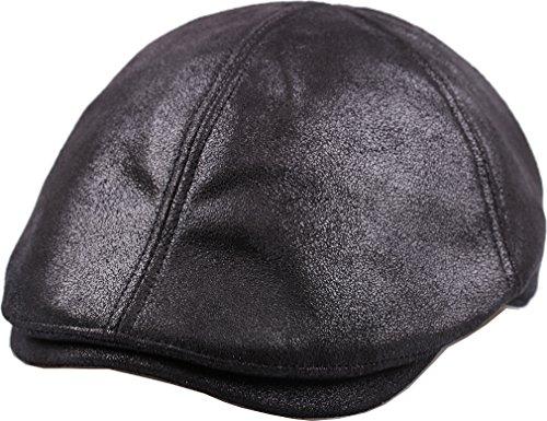 sujii iCAB Flat Cap newsboy Beret IVY Cap Irish Cabbie Driver Hat/Black