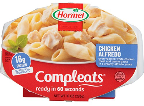 Hormel Compleats Microwave Meals   Shelf Stable   Chicken Alfredo   10 Ounce  Pack Of 6