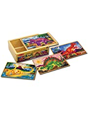 [US Deal] Save on Melissa & Doug Dinosaurs 4-in-1 Wooden Jigsaw Puzzles in a Storage Box (48 pcs). Discount applied in price displayed.