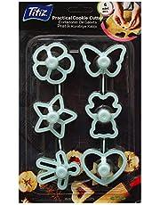 Titiz Plastic Set Of 6pcs Of Cookie Cutters - Green