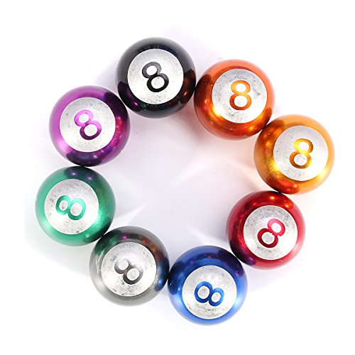 OKIl 4pcs piscina de 8 bolas universal de la bici del coche de válvula del neumático del tallo tapas Ruedas llantas