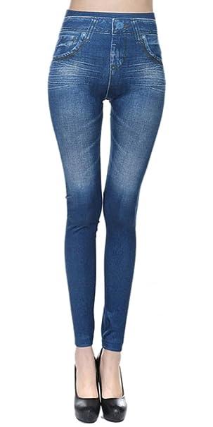 3b2c1a245d416 KINDOYO Mujer Casual Pantalones Elásticos Mujeres Pantalones del Lápiz  Delgados Vaquero Leggings  Amazon.es  Ropa y accesorios