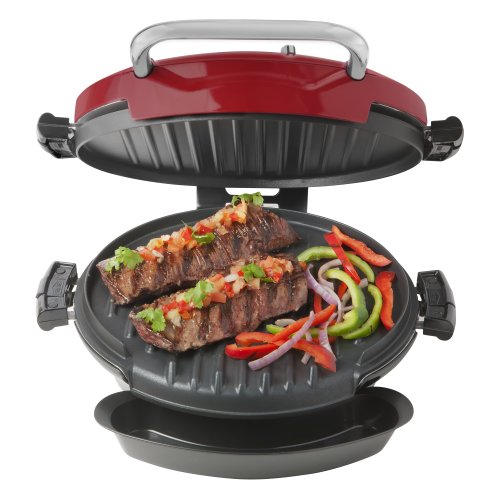George foreman grp0720rq 360 grill with 2 removable grill plates bake pan and cookbook red - Buy george foreman grill ...