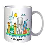 New I Love Spain Barcelona Art 11oz Mug m487