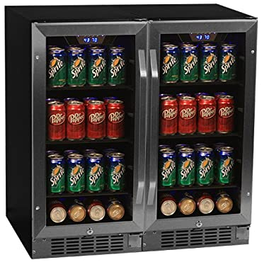 EdgeStar CBR901SGDUAL 48 Inch Wide 160 Can Built-In Beverage Cooler with Blue LE
