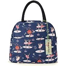 wonderful flower Insulated Lunch Box Cooler Bag lunch bag flower (011Navy)