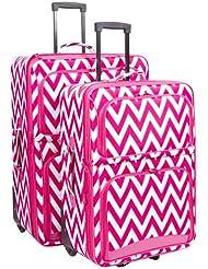 Ever Moda Chevron 2 Piece Luggage Set