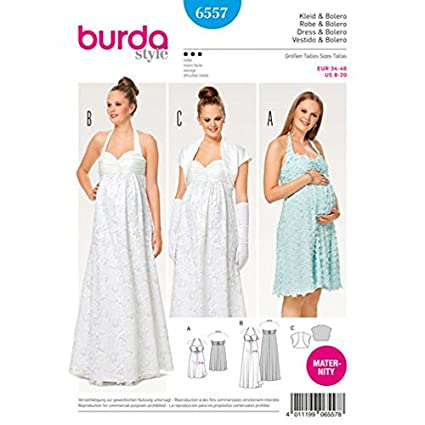 3a50e96a1a97c Image Unavailable. Image not available for. Color: Burda Ladies Maternity  Sewing Pattern 6557 Wedding & Day Dresses