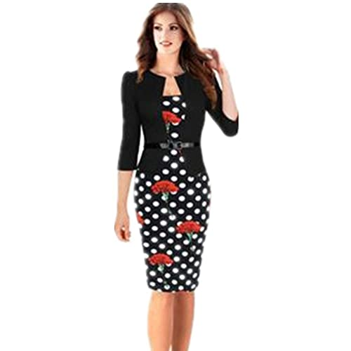Shiratori Sleeve plaid dress wear fake two package hip pencil skirt