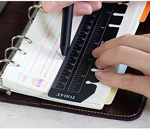 cartes de lecture A5 transparentes R/ègle de marque-pages 6 trous Hacoly Marque-page en signet en PVC pour le lecteur /étudiant
