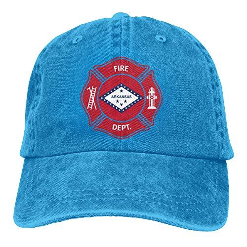 Unisex State Arkansas AR Firefighter Dept Dad Hats Adjustable Denim Classic Baseball Caps