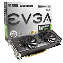 Evga Geforce Gtx760 Superclocked W/Evga Acx Cooler 2Gb Gddr5 256Bit, Dual-Link Dvi-I, Dvi-D, Hdmi,Dp, Sli Ready Graphics Card 02G-P4-2765-Kr