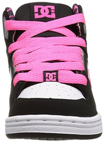 DC Shoes niños de rebote Se G high-top negro/blanco/rosa