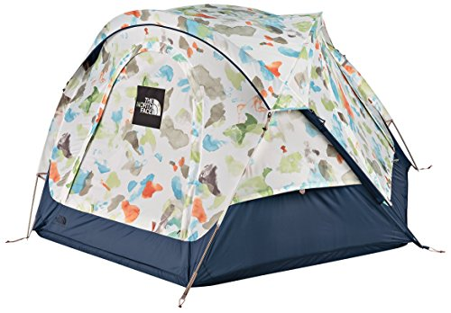 The North Face Homestead Domey 3 Camping Tent (Vintage White Sparse Mo Print/Shady Blue)