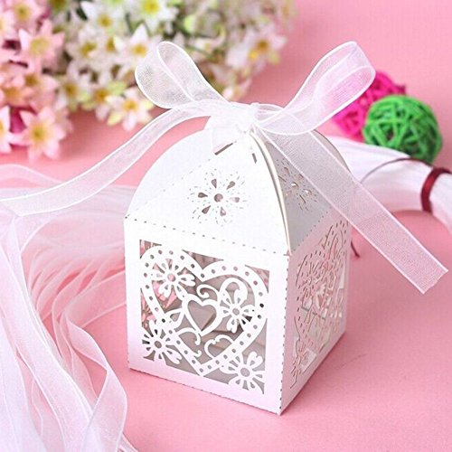 50 Pcs Butterfly Wine Glass Paper Place Cards White - 5