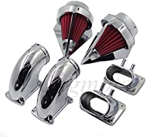 Amazon com: NBX- Chrome Dual Spike Air Cleaner Red Filter