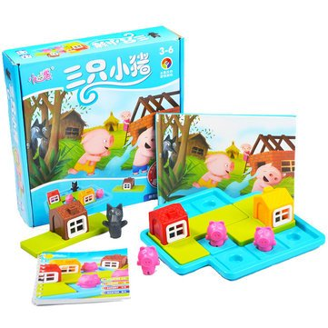 Baffle Panel Punt - Colorful Pig Puzzle Board Game Kid Child Christma Gift Educational Toy - Nonplu Circuit Card Brave Amaze Spirited Stupefy Mettlesome Gage Bewilder Gameboard - 1PCs