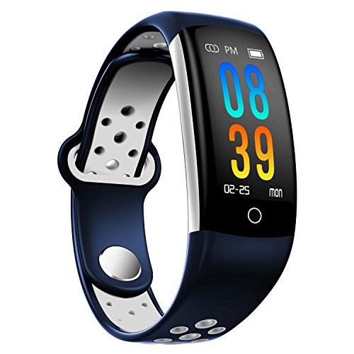 Bluetooth Smart Watch - Aeifond Touch Screen Sport Smart Wrist Watch Smartwatch Phone Fitness Tracker With Camera Pedometer SIM TF Card Slot for iPhone IOS Samsung Android for Men Women Kids (Blue2) (Alerts Discover Text Card)