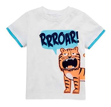 232899a5a Amazon.com: Okie Dokie Baby Boys Graphic T-Shirt - Roaring Tiger ...