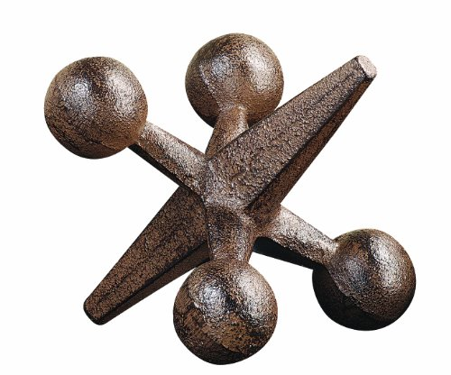 Creative Co-Op CG4322 Retro Decorative Cast Iron Jack, Rust -  - living-room-decor, living-room, home-decor - 51LgOiD1a L -