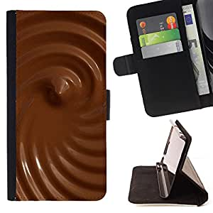 - Chocolate - - Monedero PU titular de la tarjeta de cr?dito de cuero cubierta de la caja de la bolsa FOR Samsung Galaxy Note 3 III Retro Candy