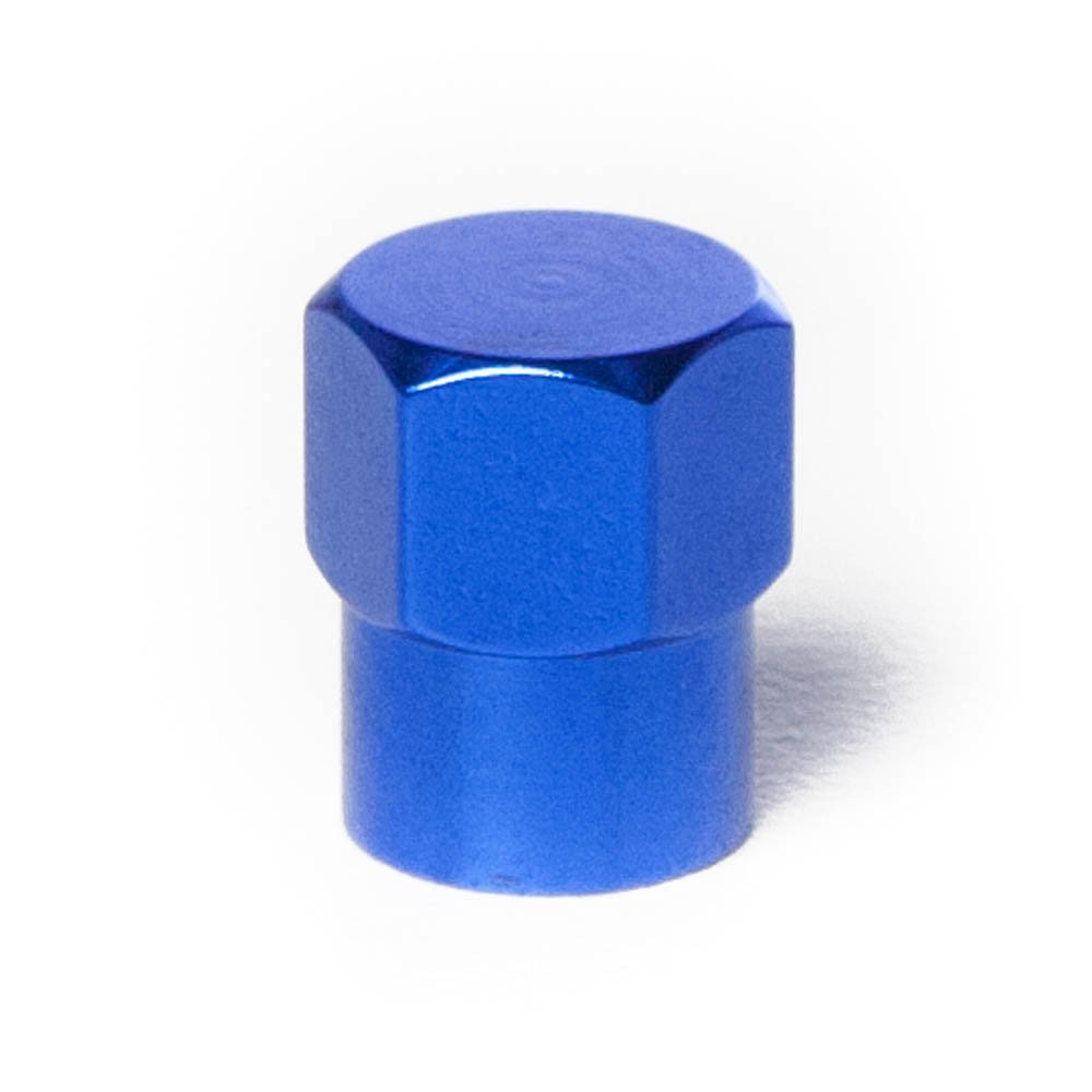 Set of 4 Circuit Performance VC6 Series Blue Aluminum Spiked Valve Stem Caps