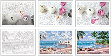 Shukqueen DIY Paint by Numbers for Adults DIY Oil Painting Kit for Kids Beginner Lovers 20x26 Inch Without Frame