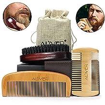 Beard Brush and Beard Comb kit, beard grooming set for men gift by Aliver