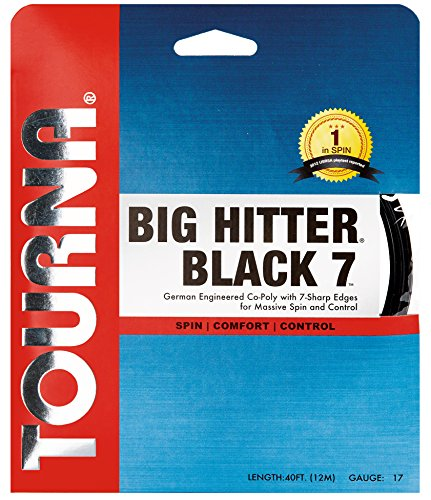 Tourna Big Hitter Black7 Ultimate Spin Polyester Tennis String 16g set